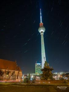 Berlin Mitte: Sternspuren am Fernsehturm
