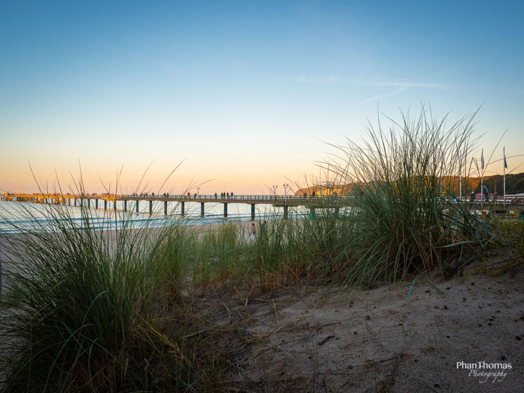 Binz: Blick über den Strand