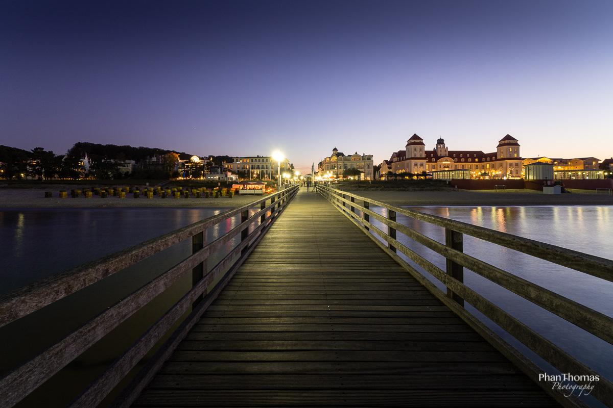 Blick von der Seebrücke auf Binz